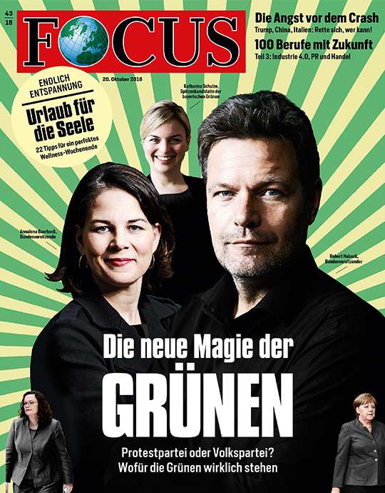 FOCUS - Die neue Magie der GRÜNEN - aktuelle Ausgabe 43/2018