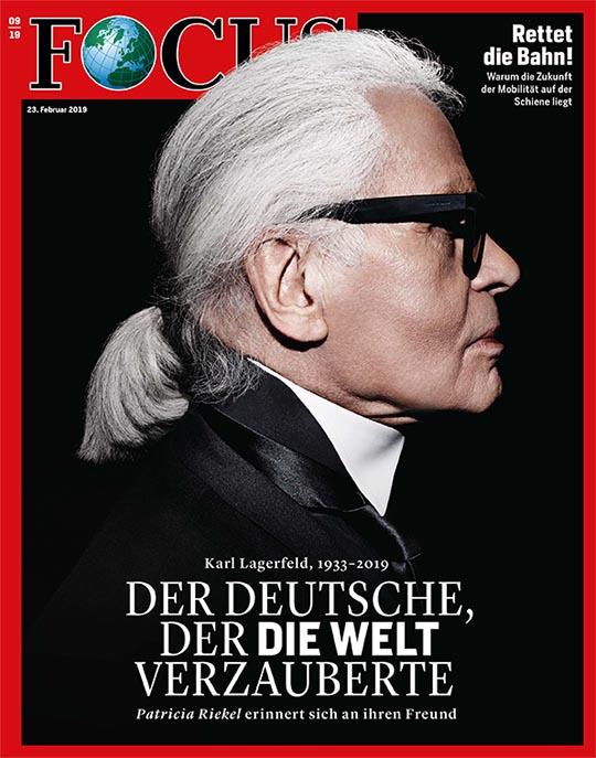 FOCUS - Karl Lagerfeld - aktuelle Ausgabe 09/2019