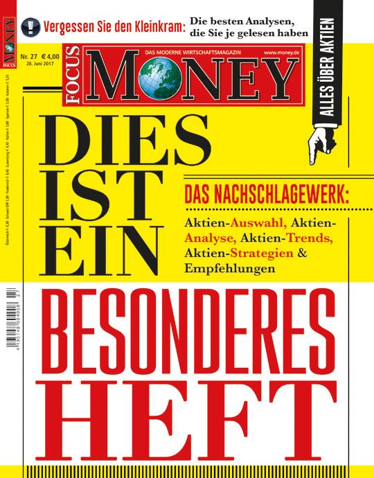 FOCUS-MONEY - aktuelle Ausgabe 27/17