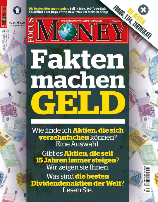 FOCUS-MONEY - aktuelle Ausgabe 34/17