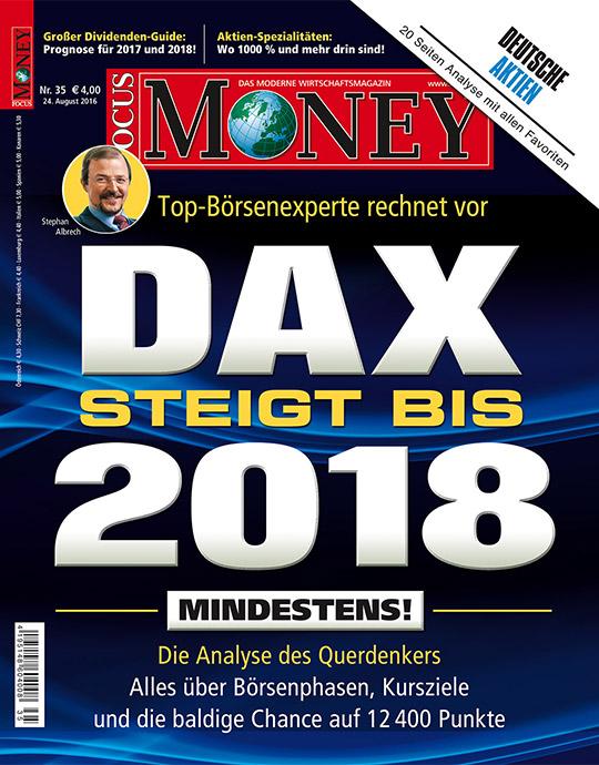 FOCUS-MONEY - aktuelle Ausgabe 35/2016