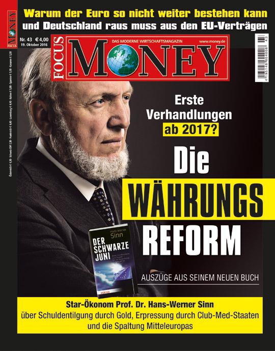 FOCUS-MONEY - aktuelle Ausgabe 42/2016