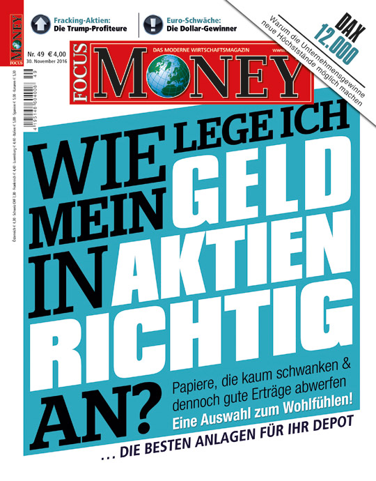 FOCUS-MONEY - aktuelle Ausgabe 49/2016