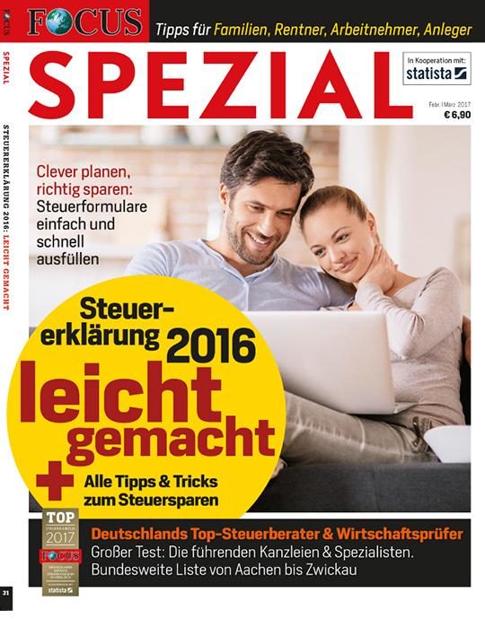 FOCUS-SPEZIAL - Steuerberater 01/2017